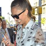 Jessica Alba arrives at her hotel after her appearance on ABC's The View 121726