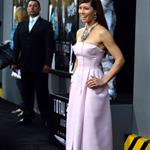 Jessica Biel at the Los Angeles premiere of Total Recall 122232