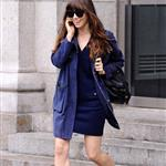 Jessica Biel leaves an office building in SoHo 114156
