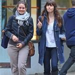 Jessica Biel walks with a friend in SoHo 114161