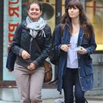Jessica Biel walks with a friend in SoHo 114165