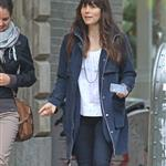 Jessica Biel walks with a friend in SoHo 114168