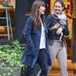 Jessica Biel walks with a friend in SoHo 114169