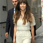 Jessica Biel arriving at the ITV studios in London 123543
