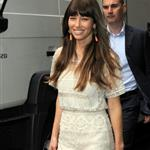 Jessica Biel arriving at the ITV studios in London 123544