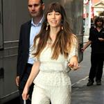Jessica Biel arriving at the ITV studios in London 123547