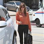 Jessica Biel seen out and about in West Hollywood wearing a gold Justin necklace 121802