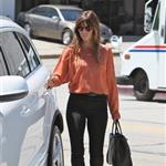 Jessica Biel seen out and about in West Hollywood wearing a gold Justin necklace 121808