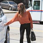 Jessica Biel seen out and about in West Hollywood wearing a gold Justin necklace 121811