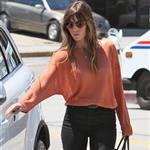 Jessica Biel seen out and about in West Hollywood wearing a gold Justin necklace 121815