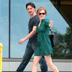 Jessica Chastain and James McAvoy on the set of The Disappearance Of Eleanor Rigby in New York 122052