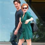 Jessica Chastain and James McAvoy on the set of The Disappearance Of Eleanor Rigby in New York 122057