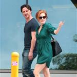 Jessica Chastain and James McAvoy on the set of The Disappearance Of Eleanor Rigby in New York 122059