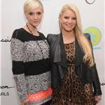 Jessica Simpson and Ashlee Simpson attend the launch of Jessica Simpson Girls at Dylan's Candy Bar 99651