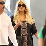 Jessica Simpson arrives at LAX with her fiancé Eric Johnson and daughter Maxwell on their way to New York 125547