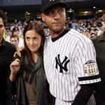 Minka Kelly and Derek Jeter on final night at Yankee Stadium  25118