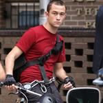 Joseph Gordon-Levitt on the set of Premium Rush  74212