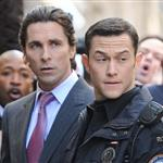 Joseph Gordon-Levitt and Christian Bale on the set of The Dark Knight Rises in New York 97335