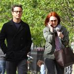 Joseph Gordon-Levitt and Julianne Moore spotted strolling around West Village after having a business lunch 113029