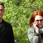 Joseph Gordon-Levitt and Julianne Moore spotted strolling around West Village after having a business lunch 113030
