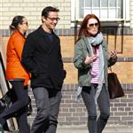 Joseph Gordon-Levitt and Julianne Moore spotted strolling around West Village after having a business lunch 113033