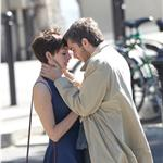 Anne Hathaway Jim Sturgess kiss in Paris while shooting One Day 68019