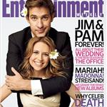 Jenna Fischer and John Krasinski on the cover of Entertainment Weekly 47620