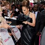 Jennifer Lopez big hair at the UK premiere of The Back-up Plan 59820