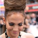 Jennifer Lopez big hair at the UK premiere of The Back-up Plan 59821