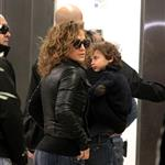 Jennifer Lopez with Casper Smart and her twins in Santiago, Chile 118204