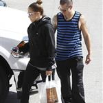 Jennifer Lopez and Casper Smart leave Aroma Cafe in West Hollywood 112874