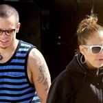 Jennifer Lopez and Casper Smart leave Aroma Cafe in West Hollywood 112880