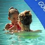 Jennifer Lopez with Casper Smart and her kids in the pool in Miami  124669