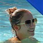 Jennifer Lopez with Casper Smart and her kids in the pool in Miami  124677