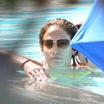 Jennifer Lopez with Casper Smart and her kids in the pool in Miami  124695