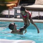 Jennifer Lopez with Casper Smart and her kids in the pool in Miami  124697