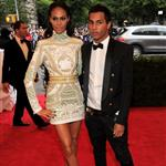 Joan Smalls at the Met Gala 2012 with Olivier Rousteing  113948