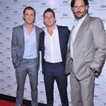 Chris Hemsworth, Channing Tatum and Joe Manganiello attend the IWC Flagship Boutique New York City Grand Opening  112516