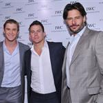 Chris Hemsworth, Channing Tatum and Joe Manganiello attend the IWC Flagship Boutique New York City Grand Opening  112517