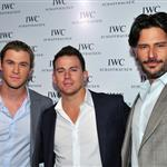 Chris Hemsworth, Channing Tatum and Joe Manganiello attend the IWC Flagship Boutique New York City Grand Opening  112518