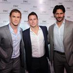 Chris Hemsworth, Channing Tatum and Joe Manganiello attend the IWC Flagship Boutique New York City Grand Opening  112519