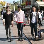 Joe Jonas shopping at the Grove with friends in skinny jeans 56752