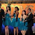 Cobie Smulders and Joel McHale in the Emmytones at Emmy Awards 2011 94485