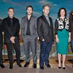 "Willem Dafoe; producer Jim Morris, Taylor Kitsch, Director Andrew Stanton, Lynn Collins and Producer Lindsey Collins attend the ""John Carter"" premiere Moscow, Russia 108136"