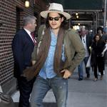 John Mayer arrives at Letterman 114961
