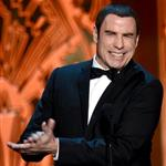John Travolta speaks onstage at the 40th AFI Life Achievement Award honoring Shirley MacLaine 116892