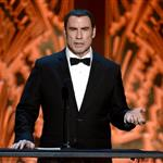 John Travolta speaks onstage at the 40th AFI Life Achievement Award honoring Shirley MacLaine 116897
