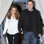 John Travolta and Kelly Preston leave Barbra Streisand's 70th birthday party  112438