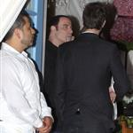 John Travolta and Kelly Preston leave Barbra Streisand's 70th birthday party  112439