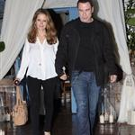 John Travolta and Kelly Preston leave Barbra Streisand's 70th birthday party  112441